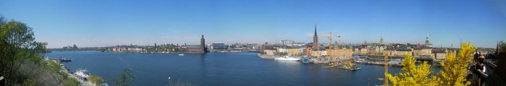 Vy från Monteliusv. mot Kungsholmen+Riddarholmen