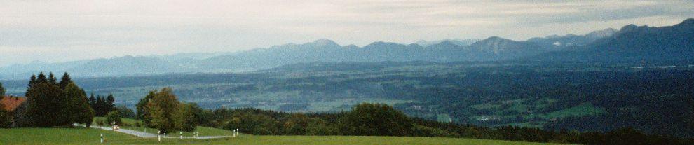 Blick vom Hohenpeissenberg